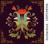 vector template for print ... | Shutterstock .eps vector #1009198546