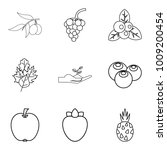 produce eat icons set. outline... | Shutterstock .eps vector #1009200454