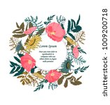 hand drawn floral card for... | Shutterstock .eps vector #1009200718