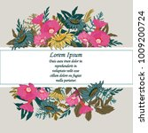 hand drawn floral card for...   Shutterstock .eps vector #1009200724