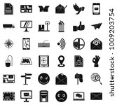 postal code icons set. simple... | Shutterstock .eps vector #1009203754