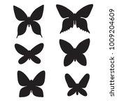 set of butterfly. vector...   Shutterstock .eps vector #1009204609