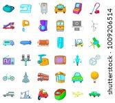 machine icons set. cartoon set...   Shutterstock .eps vector #1009206514