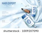 realistic 3d detailed hair care ... | Shutterstock .eps vector #1009207090