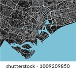 black and white vector city map ... | Shutterstock .eps vector #1009209850