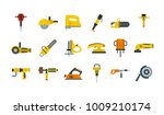 electric tools icon set. flat... | Shutterstock .eps vector #1009210174