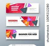 banner design vector abstract... | Shutterstock .eps vector #1009212280
