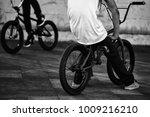 legs of two teenager boys... | Shutterstock . vector #1009216210