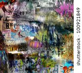 grungy style torn poster...   Shutterstock . vector #100921849