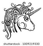 beautiful fantasy unicorn....   Shutterstock .eps vector #1009219330