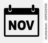 november calendar icon.vector...
