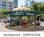union square subway at new york ... | Shutterstock . vector #1009221526