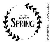 hello spring vector hand drawn... | Shutterstock .eps vector #1009222330