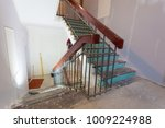 stairs with banisters is the...   Shutterstock . vector #1009224988