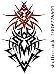 abstract fantasy dragon. tribal ...   Shutterstock .eps vector #1009226644