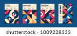 set of geometric covers.... | Shutterstock .eps vector #1009228333