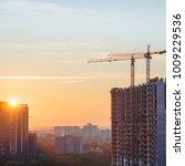 building cranes building new...   Shutterstock . vector #1009229536