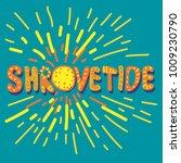 hand drawn lettering shrovetide ... | Shutterstock .eps vector #1009230790