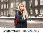 Fashionable Young Blond Woman...