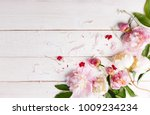 stunning pink and white peonies ... | Shutterstock . vector #1009234234