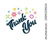 thank you greeting card | Shutterstock .eps vector #1009235014