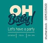 oh baby shower invitation... | Shutterstock .eps vector #1009235020