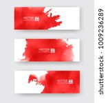 banners with abstract red ink... | Shutterstock .eps vector #1009236289