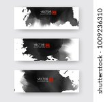 banners with abstract black ink ... | Shutterstock .eps vector #1009236310