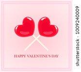 cute heart lollipop candy... | Shutterstock .eps vector #1009240009