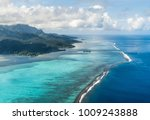 a turquoise blue lagoon | Shutterstock . vector #1009243888