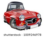 cartoon retro car.  | Shutterstock .eps vector #1009246978