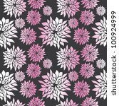vector flower pattern. seamless ... | Shutterstock .eps vector #100924999