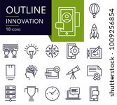 set of outline icons of... | Shutterstock .eps vector #1009256854