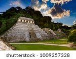mexico. pre hispanic city and... | Shutterstock . vector #1009257328