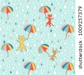 raining cats and dogs graphic... | Shutterstock .eps vector #1009257379