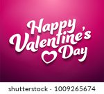happy valentine s day | Shutterstock .eps vector #1009265674