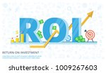 roi concept design with...   Shutterstock .eps vector #1009267603