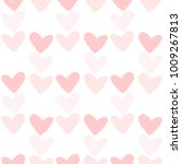 romantic seamless pattern with... | Shutterstock .eps vector #1009267813