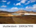 a dirt road  leading down to... | Shutterstock . vector #1009267990