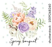 mauve spring bouquet on the... | Shutterstock .eps vector #1009268260