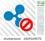 cancel ripple pictograph with 7 ... | Shutterstock .eps vector #1009269070
