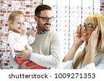 four year little girl in optics ... | Shutterstock . vector #1009271353