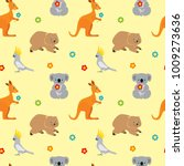seamless pattern with cute... | Shutterstock .eps vector #1009273636