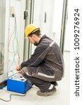 electrician engineer tests...   Shutterstock . vector #1009276924