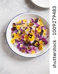 edible flowers plate pansy... | Shutterstock . vector #1009279483