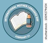 international mother language... | Shutterstock .eps vector #1009279654