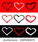 vector set of red  black and... | Shutterstock .eps vector #1009284070