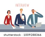 interviewers at work looking... | Shutterstock .eps vector #1009288366