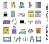 furniture seamless pattern... | Shutterstock .eps vector #1009295863