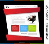 website template  easy editable   Shutterstock .eps vector #100929724